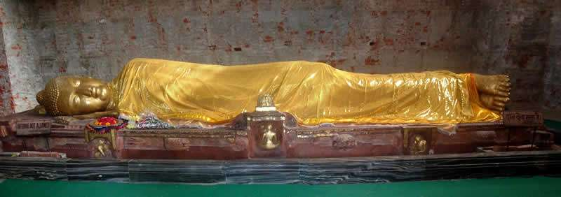 Light Forces Operations In India - Budha in Mahaparinirvana Temple